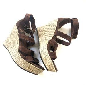 Ugg Lauri Suede Wedge Sandals